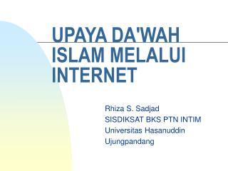 UPAYA DA'WAH ISLAM MELALUI INTERNET