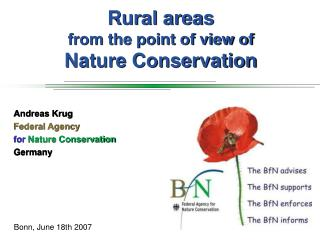 Rural areas from the point of view of Nature Conservation