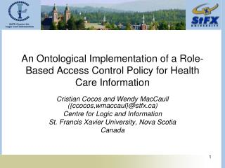 An Ontological Implementation of a Role-Based Access Control Policy for Health Care Information