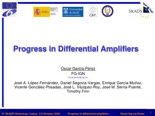 Progress in Differential Amplifiers