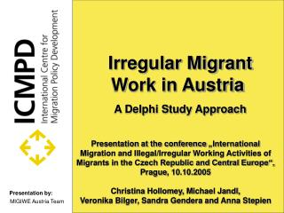 Irregular Migrant Work in Austria A Delphi Study Approach