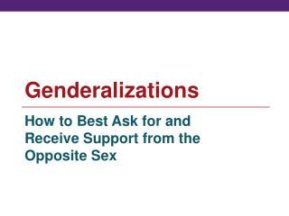 Genderalizations