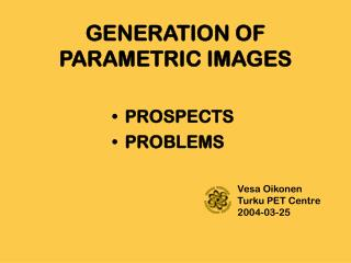 GENERATION OF PARAMETRIC IMAGES