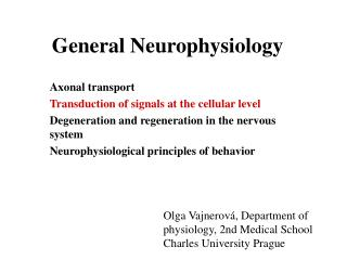 General Neurophysiology