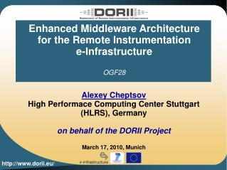 Enhanced Middleware Architecture for the Remote Instrumentation  e-Infrastructure OGF28