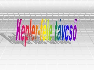 Kepler-féle távcső