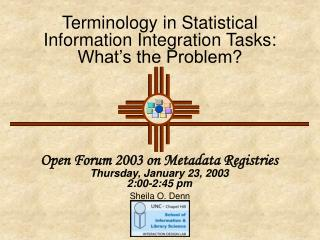Terminology in Statistical Information Integration Tasks: What's the Problem?