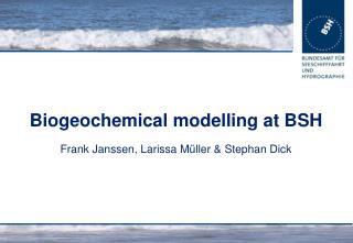 Biogeochemical modelling at BSH