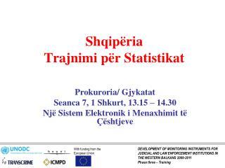 Shqipëria  Trajnimi për Statistikat