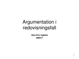Argumentation i redovisningsfall