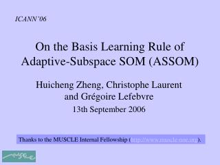 On the Basis Learning Rule of Adaptive-Subspace SOM (ASSOM)
