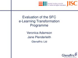 Evaluation of the SFC   e-Learning Transformation Programme