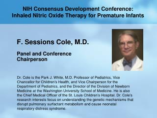 NIH Consensus Development Conference: Inhaled Nitric Oxide Therapy for Premature Infants