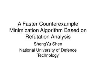 A Faster Counterexample Minimization Algorithm Based on Refutation Analysis