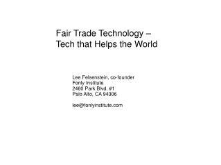 Fair Trade Technology – Tech that Helps the World