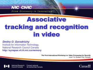 Associative  tracking and recognition  in video