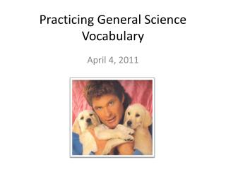Practicing General Science Vocabulary