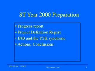 ST Year 2000 Preparation