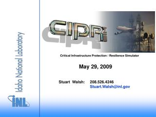 Critical Infrastructure Protection / Resilience Simulator