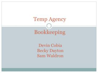 Temp Agency Bookkeeping