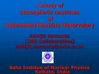 A study of  atmospheric neutrinos  at  India-based Neutrino Observatory
