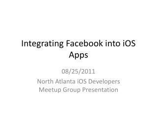 Integrating Facebook into iOS Apps