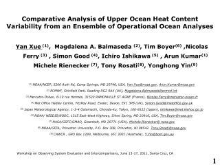Workshop on Observing System Evaluation and Intercomparisons, June 13-17, 2011, Santa Cruz, CA