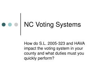 NC Voting Systems