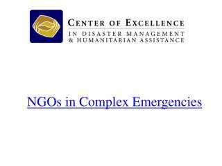 NGOs in Complex Emergencies