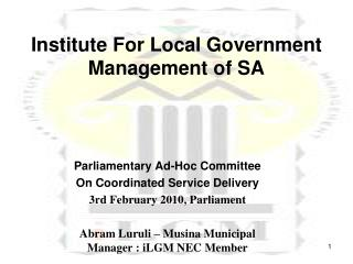 ILGM   Institute For Local Government Management of SA