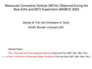 Mesoscale Convective Vortices (MCVs) Observed During the Bow-Echo and MCV Experiment (BAMEX) 2003