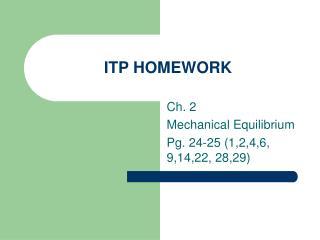 ITP HOMEWORK