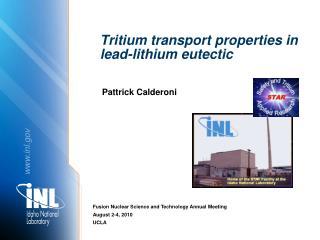 Tritium transport properties in lead-lithium eutectic