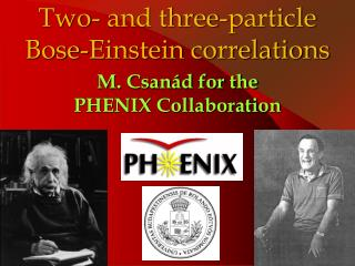 Two- and three-particle Bose-Einstein correlations
