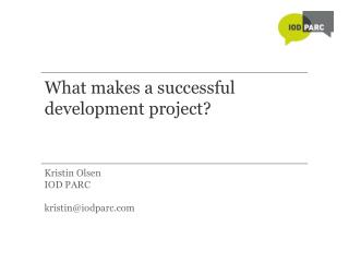 What makes a successful development project?