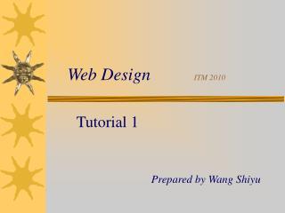 Web Design           ITM 2010