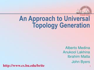An Approach to Universal Topology Generation