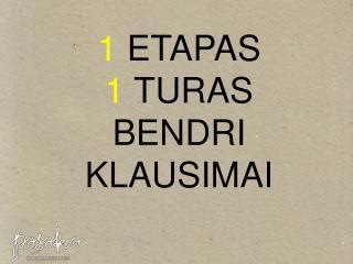 1 1 BENDRI KLAUSIMAI