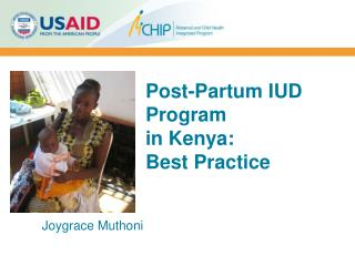 Post-Partum IUD Program  in Kenya:  Best Practice