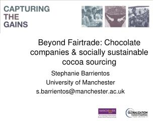 Beyond Fairtrade: Chocolate companies & socially sustainable cocoa sourcing