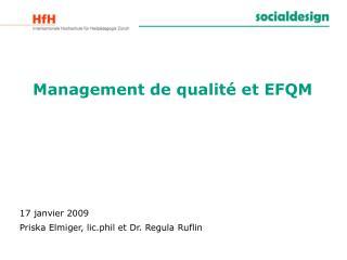 Management de qualité et EFQM