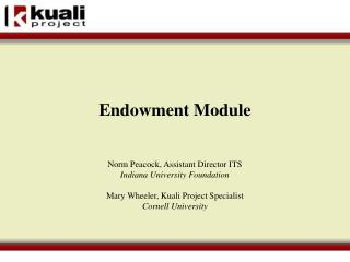 Endowment Module
