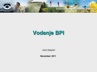 Vodenje BPI