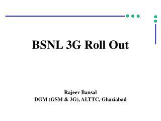 BSNL 3G Roll Out