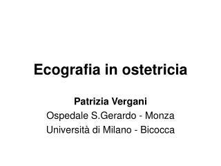 Ecografia in ostetricia
