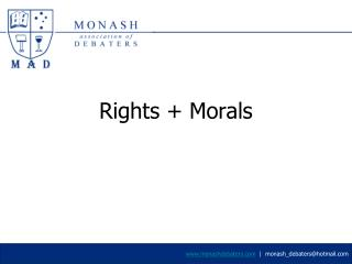 Rights + Morals