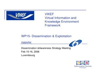 WP15- Dissemination & Exploitation INMARK