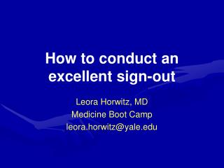 How to conduct an excellent sign-out