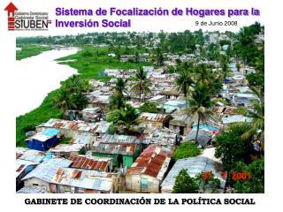 Sistema de Focalización de Hogares para la Inversión Social