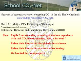 Network of secondary schools observing CO 2  in the air, The Netherlands